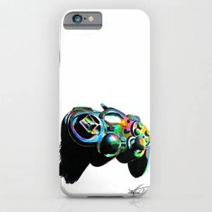 Society6 Gamepad Fluorescente Playstation Iphone Case by Zontiac - iPhone 6s - Slim Case