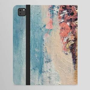 Society6 Artemis: A Pretty, Minimal, Abstract Mixed Media Piece In Blue, Gold, Pink, Purple, And White Ipad Folio Case by Alyssa Hamilton Art - iPad Pro 12.9""