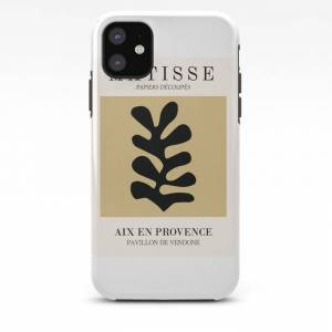 Society6 Henri Matisse Abstract Leaf Cutoff Beige Color Wall Art Iphone Case by Mini Mons - iPhone 11 - Tough Case