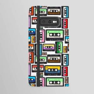 Society6 Cassette Vinyl Record Android Wallet Case by Newyorker01 - Samsung Galaxy S10e