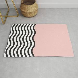 Society6 Waves Of Pink Modern Throw Rug by Madeyoul__k - 2' x 3'