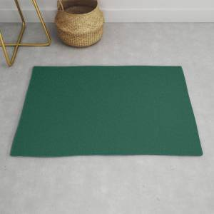 Society6 Solid Jewel Tone Green Modern Throw Rug by The K. Shop - 2' x 3'
