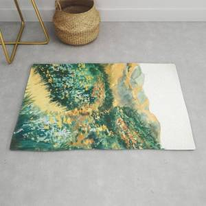 Society6 Into The Valley Modern Throw Rug by Ginnyx_k - 2' x 3'