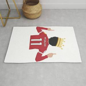 Society6 Mo Salah Egyptian King Liverpool Modern Throw Rug by Mollyadriana - 2' x 3'