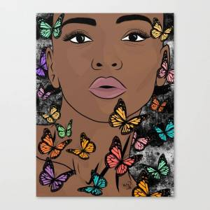 Society6 You Give Me Butterflies Canvas Print by The King Gallery - LARGE
