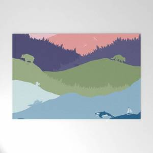 """Society6 Vancouver Landscape Outdoor Welcome Mat by Mo Kalache - 30"""" x 20"""""""