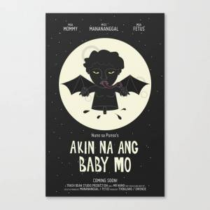 Society6 Akin Na Ang Baby Mo (philippine Mythological Creatures Series) Canvas Print by Lalaine Lim - LARGE