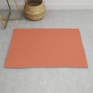 Society6 Solid Copper Modern Throw Rug by The K. Shop - 2' x 3'