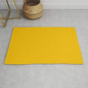 Society6 Solid Yellow Modern Throw Rug by The K. Shop - 2' x 3'