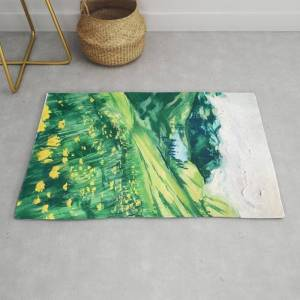 Society6 A Hidden Lake Modern Throw Rug by Ginnyx_k - 2' x 3'