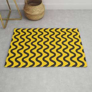 Society6 Yellow Ripple Modern Throw Rug by Madeyoul__k - 2' x 3'