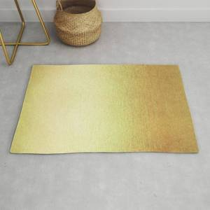 Society6 Simply 24k Gold Modern Throw Rug by Simple Luxe - 2' x 3'