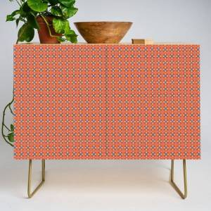 Society6 Moroccan Motet Pattern Modern Credenza Cupboard by Peter Gross - Gold - Birch