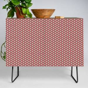 Society6 Paramour Pattern Modern Credenza Cupboard by Peter Gross - Black - Walnut