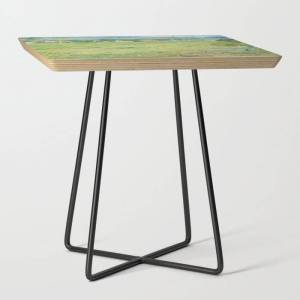 Society6 Vincent Van Gogh View Of Vessenots Near Auvers Side Table by Art Gallery - Black - Square