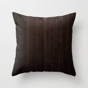 """Society6 Very Dark Coffee Table Wood Texture Couch Throw Pillow by Created Prototype - Cover (16"""" x 16"""") with pillow insert - Indoor Pillow"""