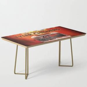 Society6 Sturgill Simpson A Good Lookn World Tour Dates 2020 Asamjawa Modern Coffee Table by Ami507 - Gold