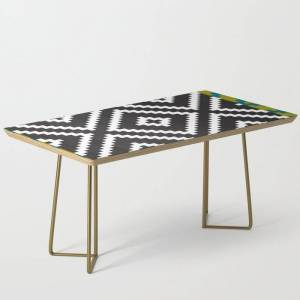 Society6 Ikea Lappljung Ruta Inverse Modern Coffee Table by Dizzy Moments - Gold
