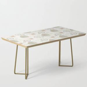 Society6 Vintage Wonderland - Hot Air Balloon Modern Coffee Table by Shirts And Date Of Birth-by-frankenberg - Gold