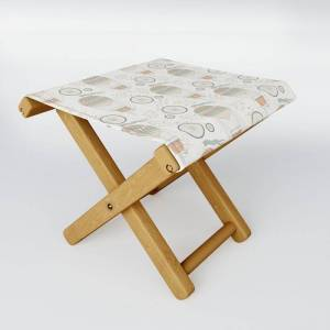 Society6 Vintage Wonderland - Hot Air Balloon Folding Stool by Shirts And Date Of Birth-by-frankenberg - One Size