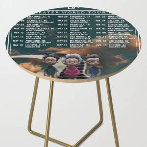 Society6 Ajr Neotheater Tour Dates 2020 Baukencur Side Table by Raeu390 - Gold - Round