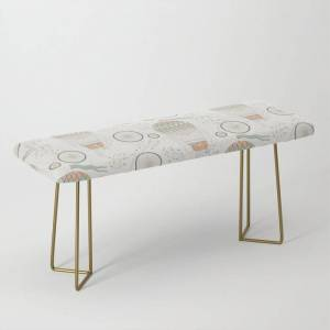 Society6 Vintage Wonderland - Hot Air Balloon Bench/ottoman by Shirts And Date Of Birth-by-frankenberg - Gold