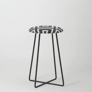 Society6 Ikea Lappljung Ruta Inverse Kitchen Counter Stool by Dizzy Moments - Black