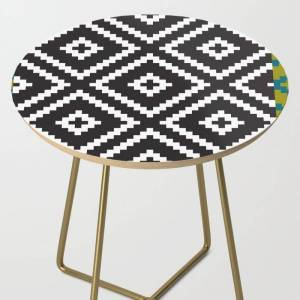 Society6 Ikea Lappljung Ruta Inverse Side Table by Dizzy Moments - Gold - Round