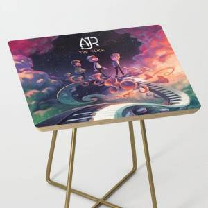 Society6 Ajr The Click Tour Dates 2020 Asamjawa Side Table by Dawidya34 - Gold - Square