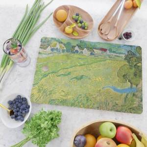 Society6 Vincent Van Gogh View Of Vessenots Near Auvers Kitchen Cutting Board by Art Gallery - Rectangle