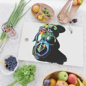 Society6 Gamepad Fluorescente Playstation Kitchen Cutting Board by Zontiac - Rectangle