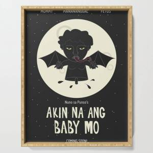 "Society6 Akin Na Ang Baby Mo (philippine Mythological Creatures Series) Serving Tray by Lalaine Lim - 18"" x 14"" x 1 3/4"""
