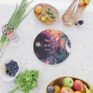 Society6 Ajr The Click Tour Dates 2020 Asamjawa Kitchen Cutting Board by Dawidya34 - Round