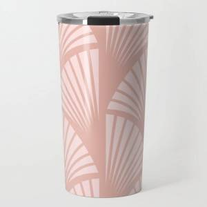 Society6 Fans In Pink Travel Coffee Mug by Becky Bailey - 20 oz