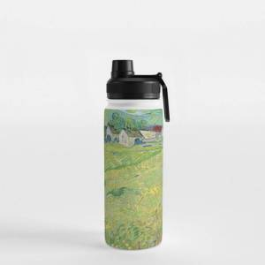 Society6 Vincent Van Gogh View Of Vessenots Near Auvers Water Bottle by Art Gallery - 18 oz (532 mL) - Sport Lid