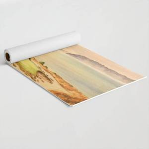 """Society6 Chambers Bay Golf Course 15th Hole Exercise/travel Yoga Mat by Bill Holkham - 24"""" x 70"""""""