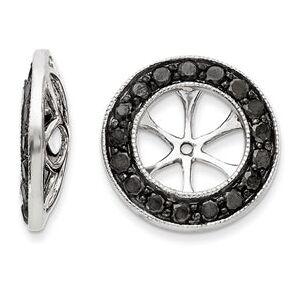 SuperJeweler 14K White Gold Black Diamond Earring Jackets, Fits 1 3/4-2 Carat Stud Earrings by SuperJeweler
