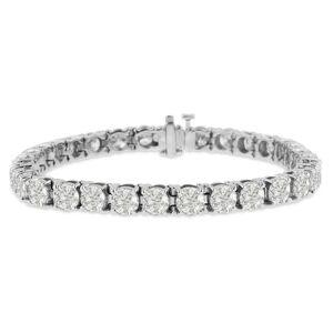 SuperJeweler 15 Carat Diamond Tennis Bracelet in 14K White Gold (20 g), , 7 Inch by SuperJeweler