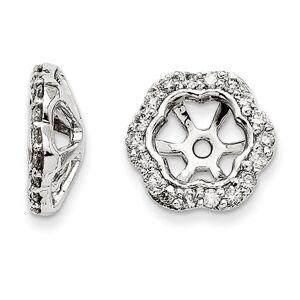 SuperJeweler 14K White Gold Floral Inspired Diamond Earring Jackets, Fits 3/4-1 Carat Stud Earrings,  by SuperJeweler