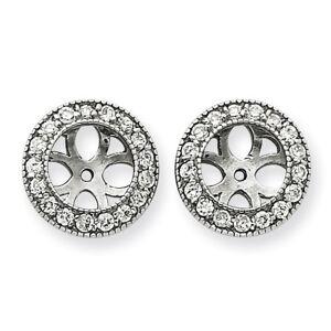 SuperJeweler 14K White Gold Ornate Diamond Earring Jackets, Fits 1 3/4-2 Carat Stud Earrings,  by SuperJeweler
