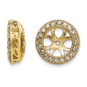SuperJeweler 14K Yellow Gold Ornate Diamond Earring Jackets, Fits 3 3/4-4 Carat Stud Earrings,  by SuperJeweler