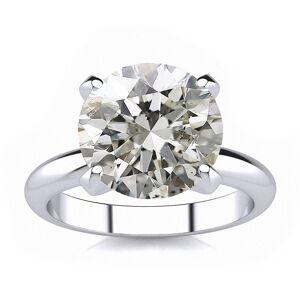 SuperJeweler 5 Carat Round Diamond White Gold Solitaire Engagement Ring (, I1-I2 Clarity Enhanced) by SuperJeweler