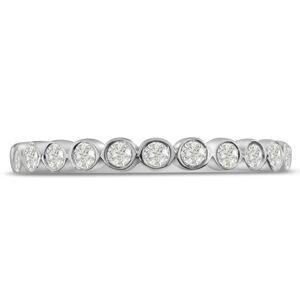 SuperJeweler 14K White Gold 1/4 Carat Bezel Set Diamond Eternity Wedding Band,  I1-I2 by SuperJeweler