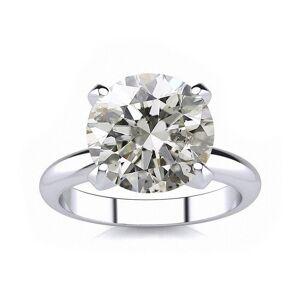 SuperJeweler 4.23 Carat Round Cut Diamond Platinum Solitaire Engagement Ring (, SI2-I1 Clarity Enhanced) by SuperJeweler
