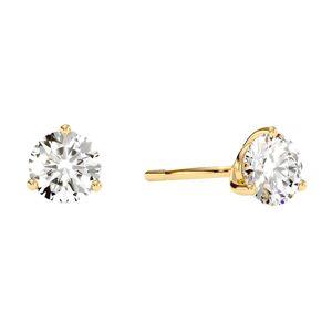 SuperJeweler 1.5 Carat Natural Genuine Diamond Stud Earrings in Martini Setting 14K Yellow Gold (, I1-I2) by SuperJeweler