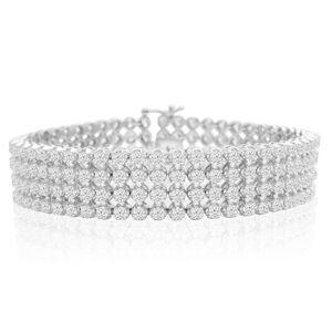 SuperJeweler 10.60 Carat Important Diamond Bracelet in 14K White Gold (31 g), , 7 Inch by SuperJeweler