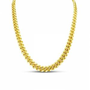 SuperJeweler 14K Yellow Gold (32.20 g) 6.50mm 22 Inch Light Miami Cuban Chain Necklace by SuperJeweler