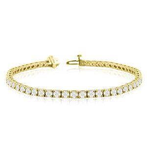 SuperJeweler 6 7/8 Carat Diamond Tennis Bracelet in 14K Yellow Gold, 6 Inches,  by SuperJeweler