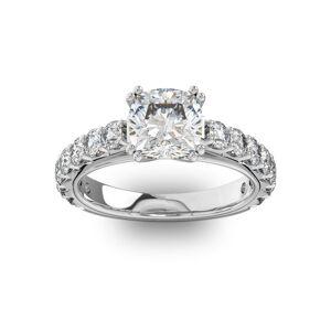 SuperJeweler 4 1/2 Carat Round Shape Double Prong Set Engagement Ring in 14K White Gold (6 g) (, SI2-I1) by SuperJeweler