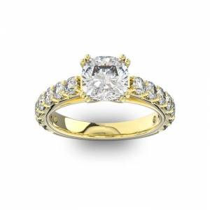 SuperJeweler 4 1/2 Carat Round Shape Double Prong Set Engagement Ring in 14K Yellow Gold (6 g) (, SI2-I1) by SuperJeweler